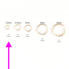 Argola 3,5mm Folheada a Ouro  - Pct com 1g