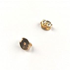 Par de Tarraxas Borboleta Folheadas a Ouro -  8mm