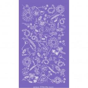 Soft Stencil - Tela Serigráfica Tema Floral